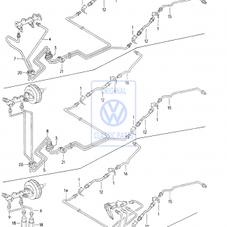 Conduite de frein (1700mm)