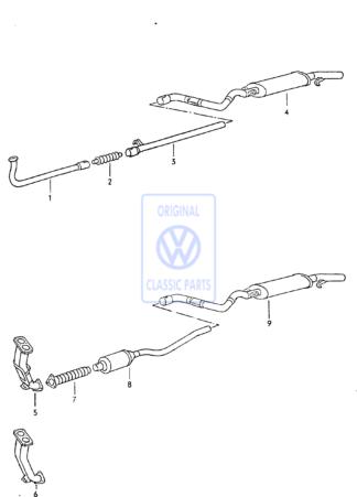 Pot d'?chappement pour VW Golf Mk1