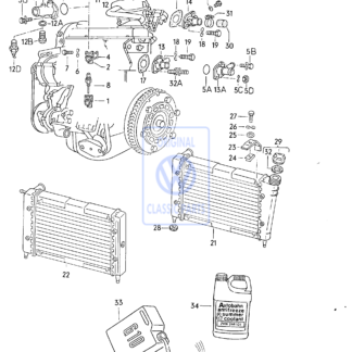 Liquide de refroidissement du radiateur Golf Mk1 Mk2 Scirocco Mk2