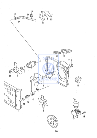 Ventilateur de radiateur Golf Mk2Mk4 Passat B3 B4