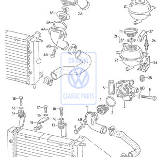 Thermostat boîtier Golf Mk2 Polo Mk2 GP
